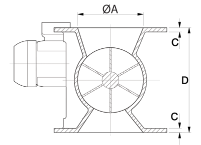 Dust Collector Valve Technical Drawing India