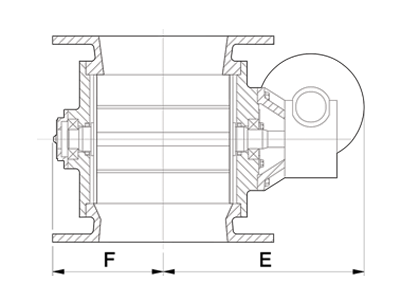 Dust Collector Valve Technical Diagram