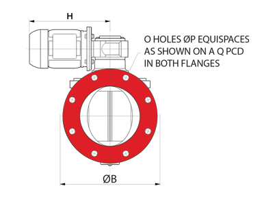 Dust Collector Valve Circular Inlet Drawing