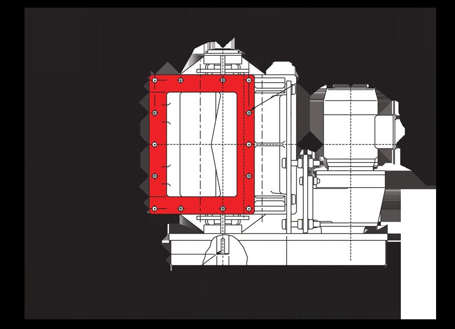 Rectangular Rotary Airlock Valve Inlet