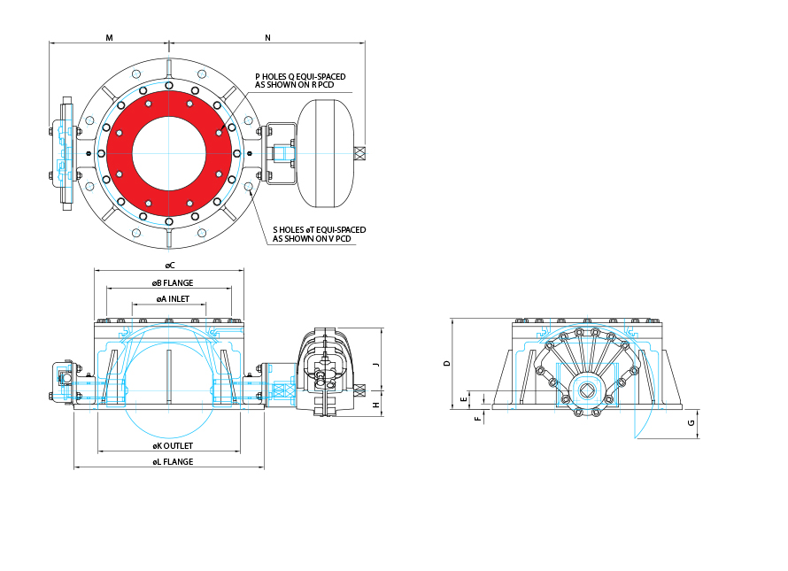 Roundhead Valve Dimensions Drawing