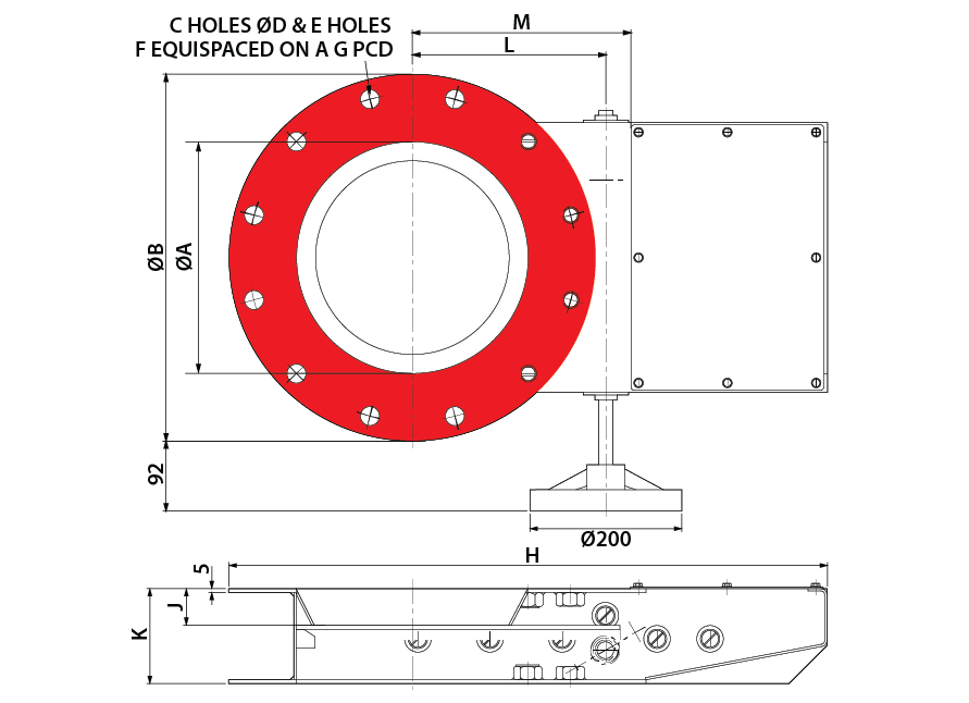 Slide Valve - R&P Hand Wheel - Circular GA-01