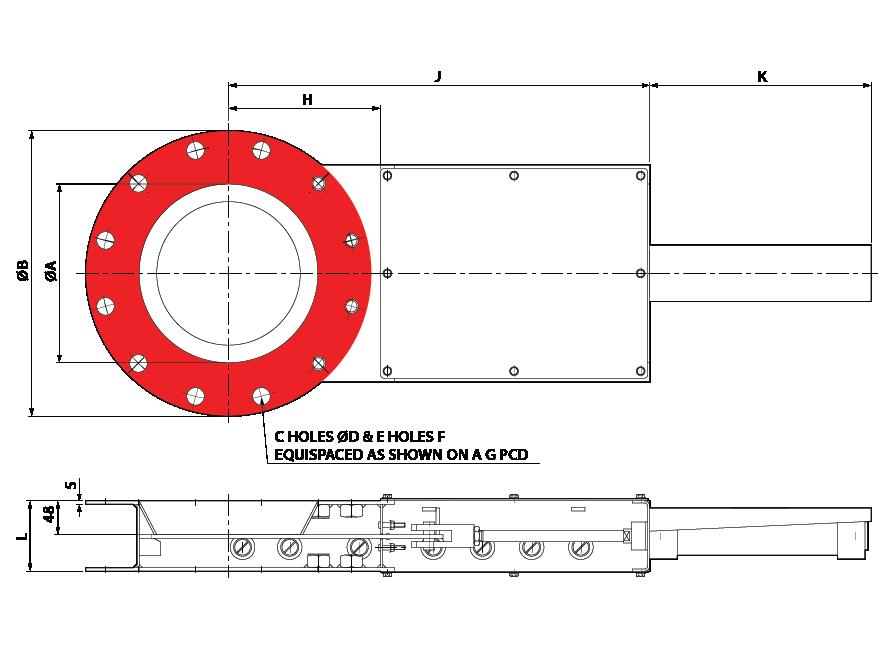 Slide Valve - Single Pneumatic - Circular GA-01