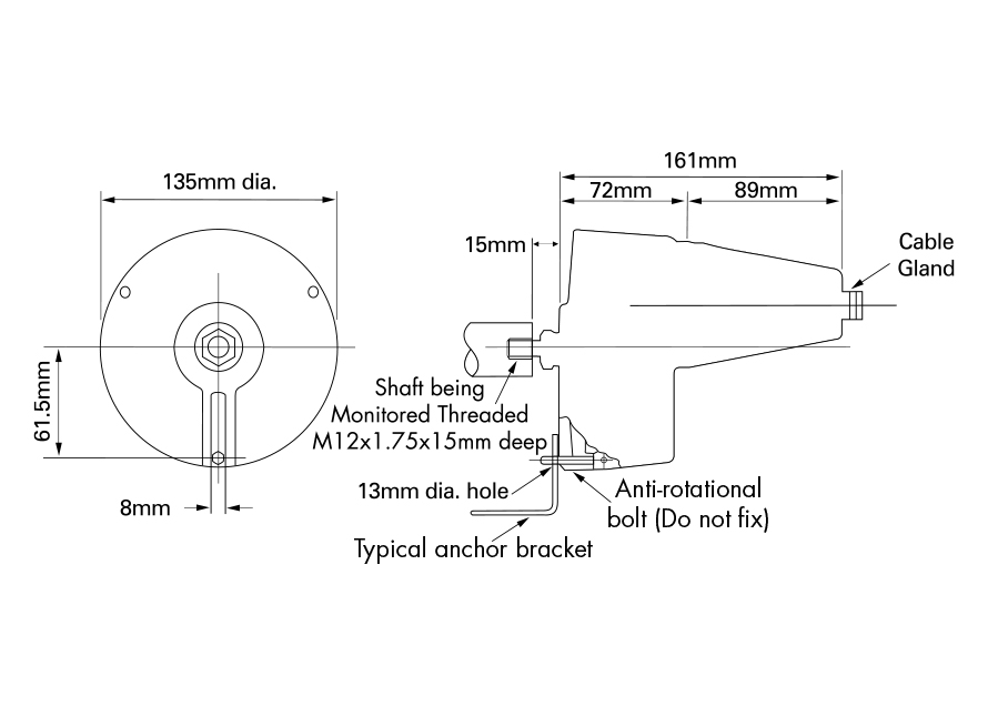 Rotospeed Switch Dimensions Drawing